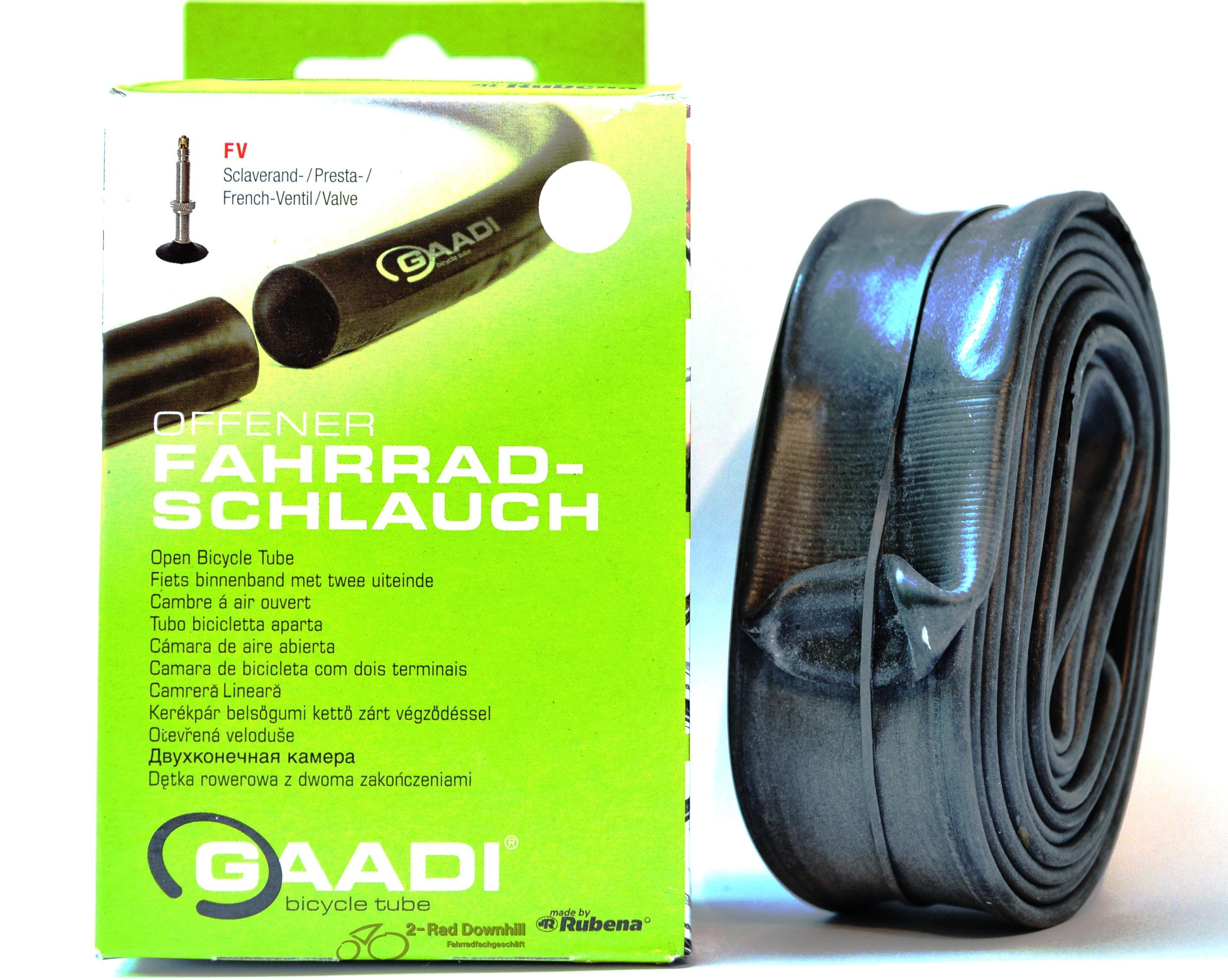 gaadi offener fahrradschlauch 28 sv keine demontage des. Black Bedroom Furniture Sets. Home Design Ideas
